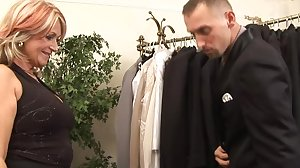 Sugar Mama Buys Boyfriend New Suit For Sex