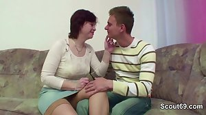MILF mother Seduce Step-Son to Fuck her..