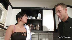 German Step-Son Seduce Hot MILF Mother..