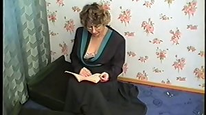 Stepmom with hairy cunr, hanging tits..