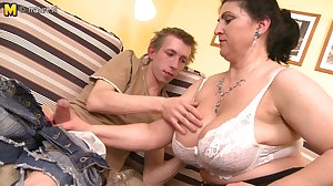 Gorgeous mother fucked hard by young boy..