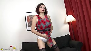 Mature whore mom fucked hard by two..