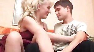 Mature woman seduce a young boy